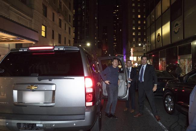 L'arrivo del Presidente Conte a New York