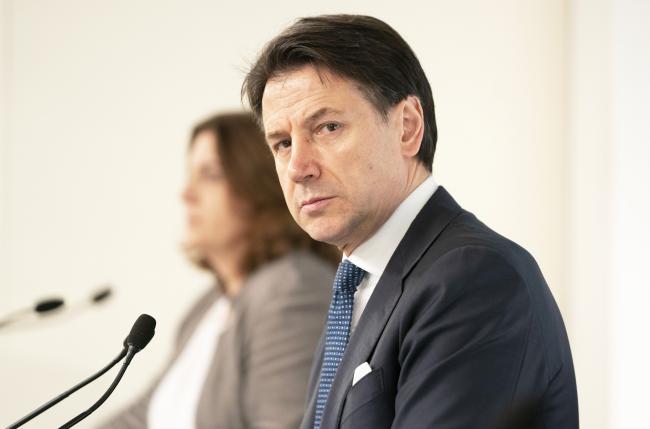Conte e Catalfo in conferenza stampa