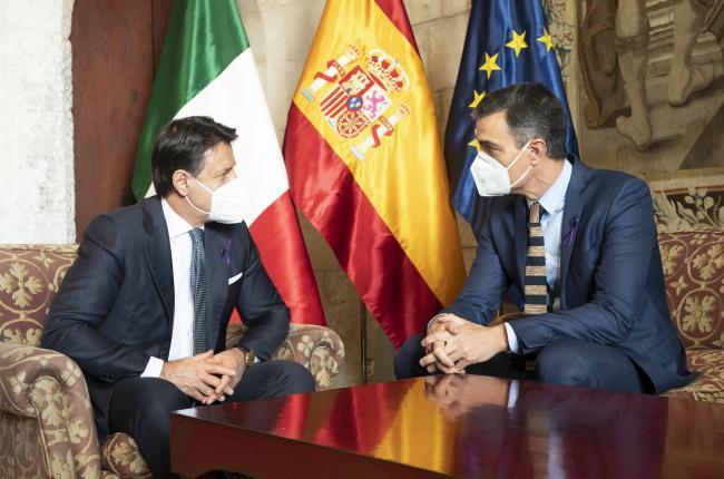 XIX Vertice intergovernativo italo-spagnolo, incontro bilaterale Conte - Sanchez