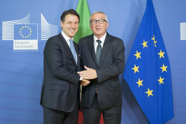 Conte incontra Jean-Claude Juncker