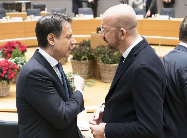 Euro Summit, Conte con Charles Michel