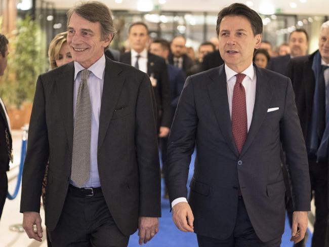 Bruxelles, Conte incontra il Presidente del Parlamento europeo Sassoli