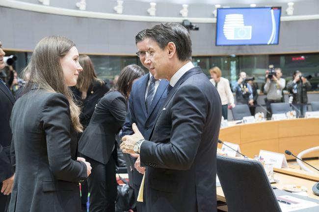 Euro Summit, Conte con Sanna Marin