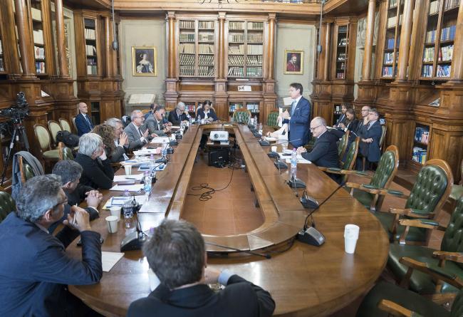 Conte incontra i sindacati Cgil, Cisl e Uil