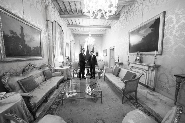 Il Presidente Conte incontra il Primo Ministro Rutte