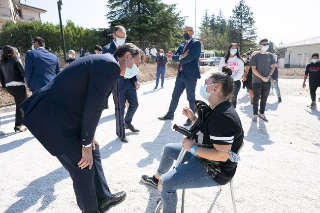 Visita del Presidente Conte a Norcia