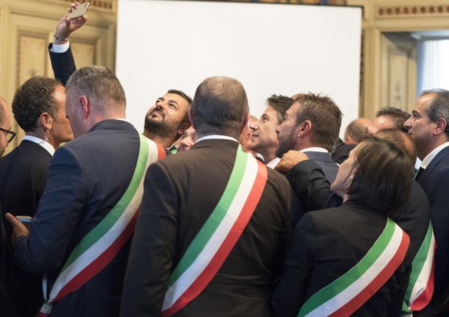 Il Presidente Conte alla cerimonia di firma del Cis Molise a Campobasso