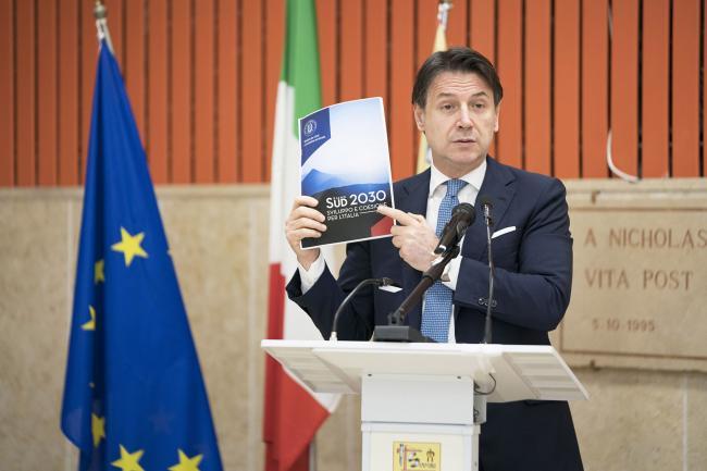 Conte a Gioia Tauro alla presentazione del Piano per il sud
