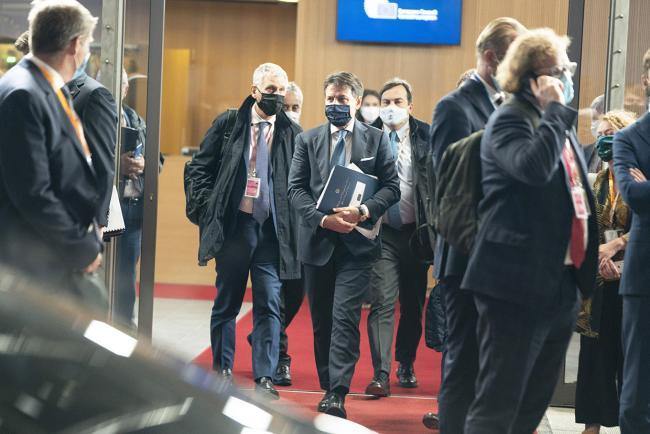 Conte partecipa alla seconda giornata del Consiglio europeo