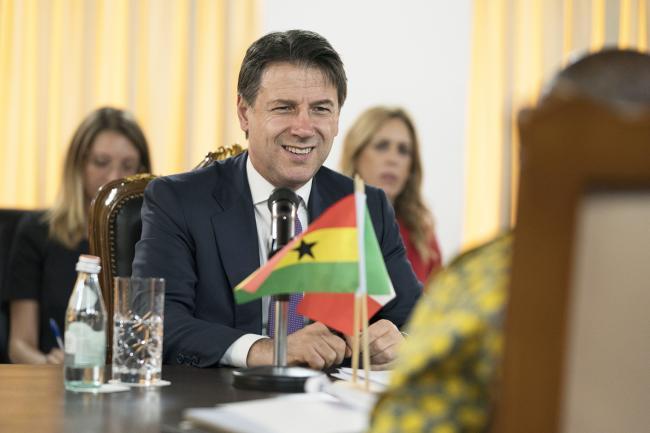 Conte incontra il Presidente della Repubblica del Ghana