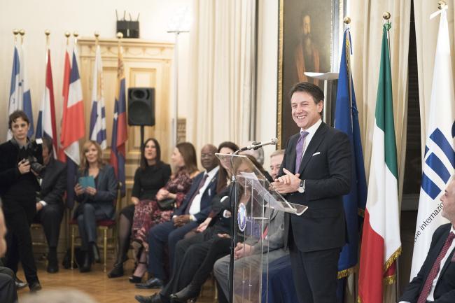 """Il Presidente Conte alla """"Festa dell'Istituto Italo-Latino Americano"""""""