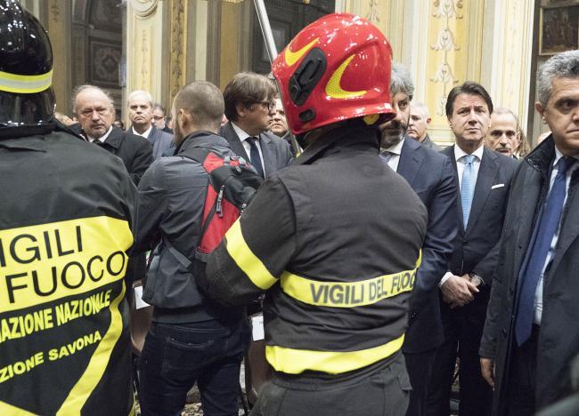 Alessandria, Conte ai funerali solenni dei Vigili del Fuoco