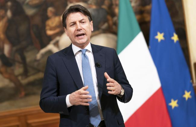 Conte durante le dichiarazioni al termine del Consiglio Europeo