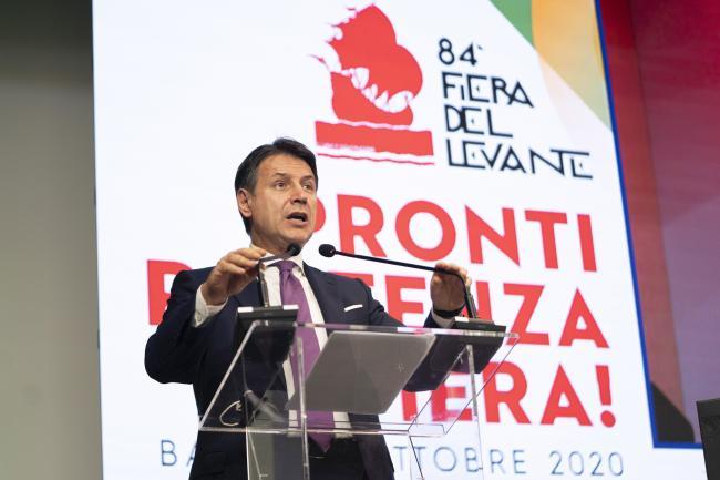 Il Presidente Conte all'84ª edizione della Fiera del Levante