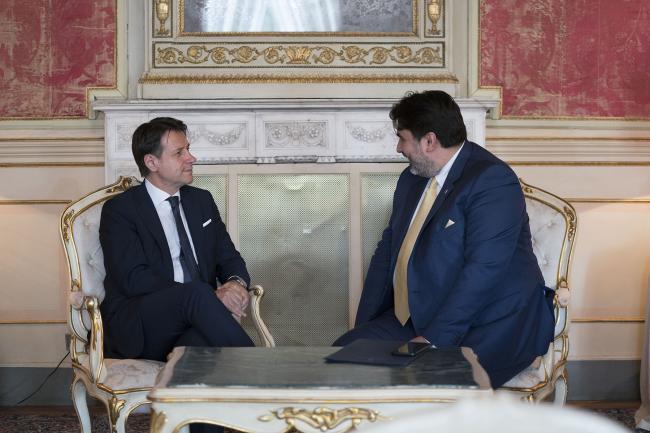 """Il Presidente Conte al Convegno """"Percorsi Mediterranei di Mediazione per la pace"""""""