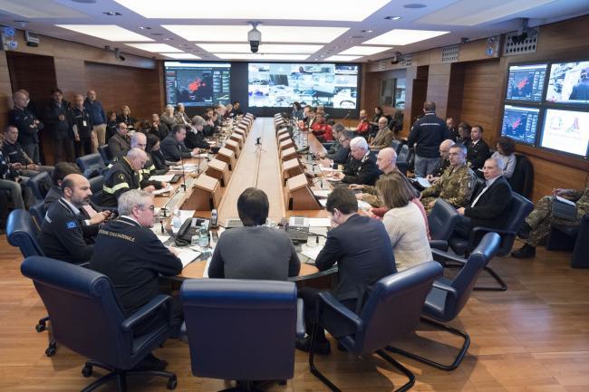 Coronavirus, riunione del Comitato operativo al Dipartimento della Protezione Civile