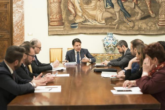 Il Presidente Conte incontra i capidelegazione di maggioranza