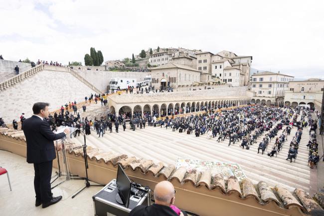Il Presidente Conte interviene ad Assisi
