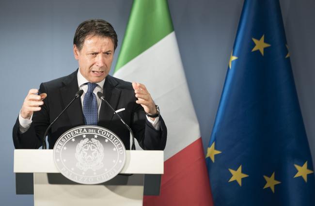 Conte in conferenza stampa al termine dei lavori del Consiglio europeo