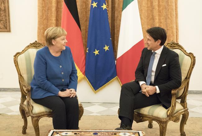 Incontro bilaterale tra il Presidente Conte e la Cancelliera Merkel