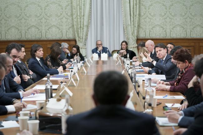 Il Presidente Conte incontra i capigruppo di maggioranza e opposizione