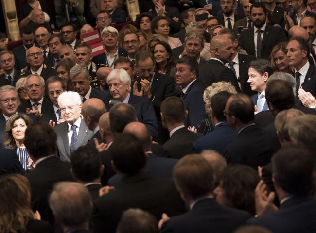 Il Presidente Mattarella e il Presidente Conte all'Assemblea generale di Assolombarda