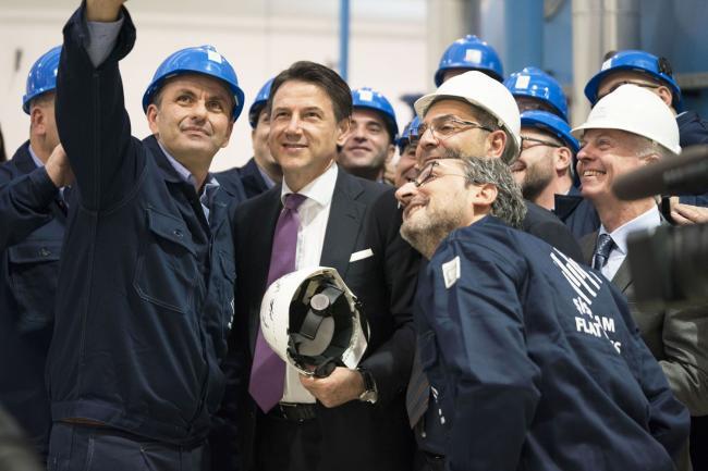Cerimonia di inaugurazione dell'azienda Şişecam