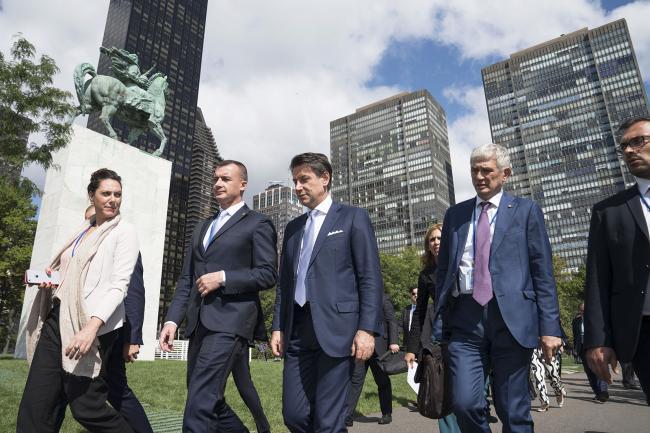 Il Presidente Conte a New York per la 74ª Sessione dell'Assemblea Generale delle Nazioni Unite