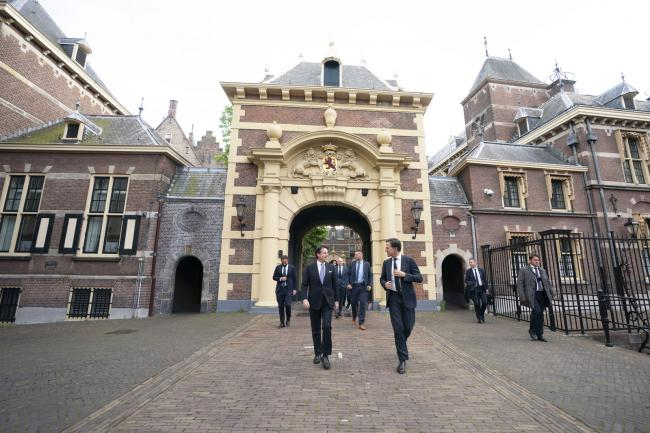 Il Presidente Conte con il Primo Ministro Rutte a L'Aja