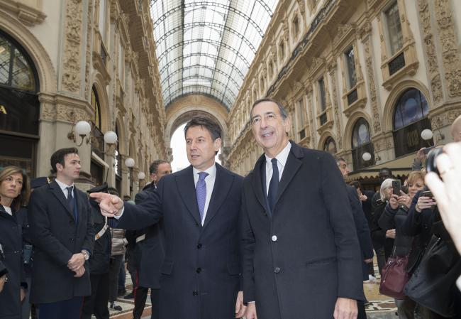 Conte incontra il Sindaco di Milano