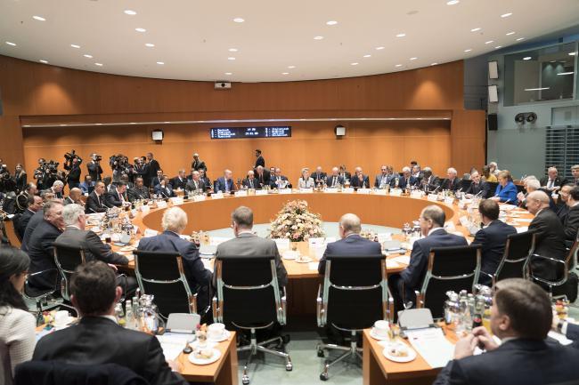 Il Presidente Conte e il Ministro Di Maio alla Conferenza di Berlino sulla Libia