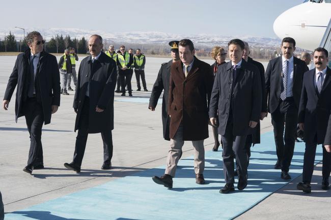 L'arrivo di Conte ad Ankara