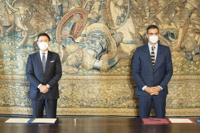 XIX Vertice intergovernativo italo-spagnolo, firma di una Dichiarazione congiunta