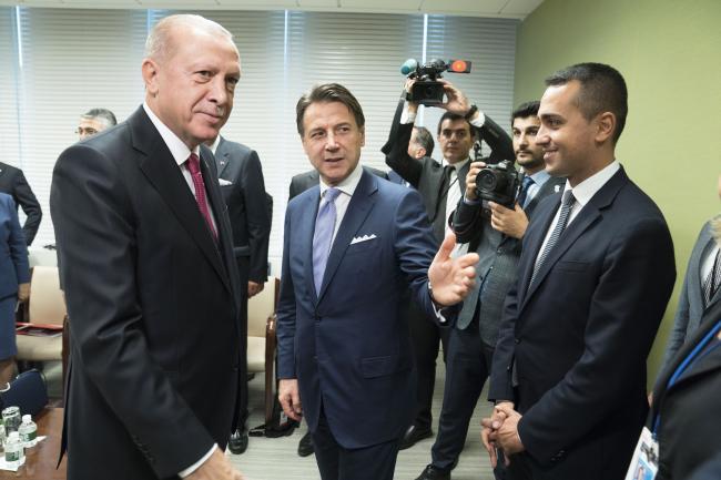 Il Presidente Conte con il Presidente della Repubblica di Turchia Erdoğan