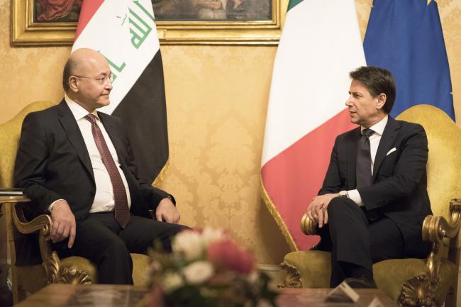 Il Presidente Conte incontra il Presidente della Repubblica dell'Iraq
