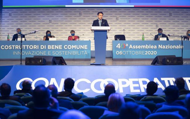 Il Presidente Conte all'Assemblea nazionale di Confcooperative