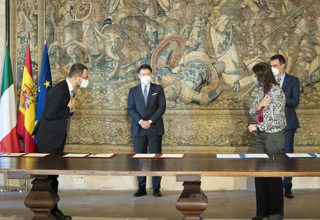XIX Vertice intergovernativo italo-spagnolo, cerimonia di firma di accordi