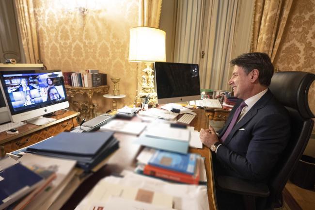 75ma Sessione ONU, video conferenza  Conte - Guterres