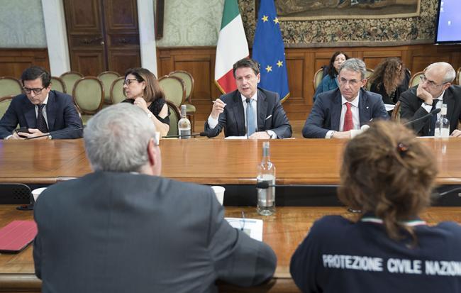 Emergenza maltempo, riunione a Palazzo Chigi