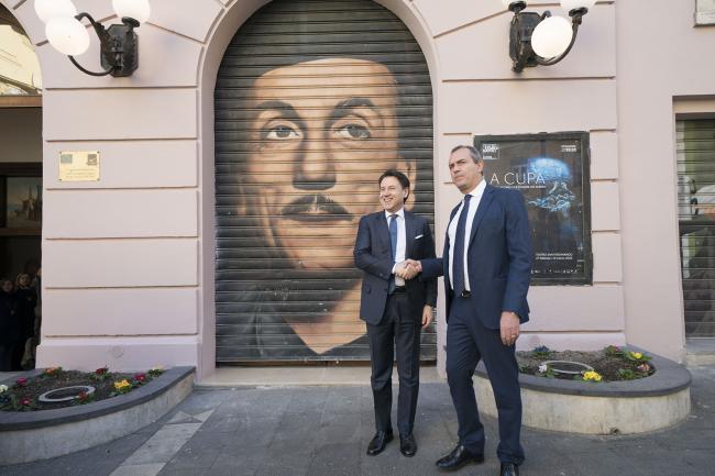 XXXV Vertice intergovernativo italo-francese, il Presidente Conte con il Sindaco de Magistris