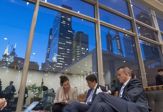 Il Presidente Conte interviene al Palazzo delle Nazioni Unite