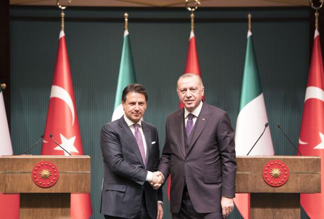 Conte ad Ankara con Erdoğan