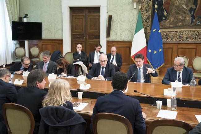 Conte incontra delegazione di Sindaci Anci