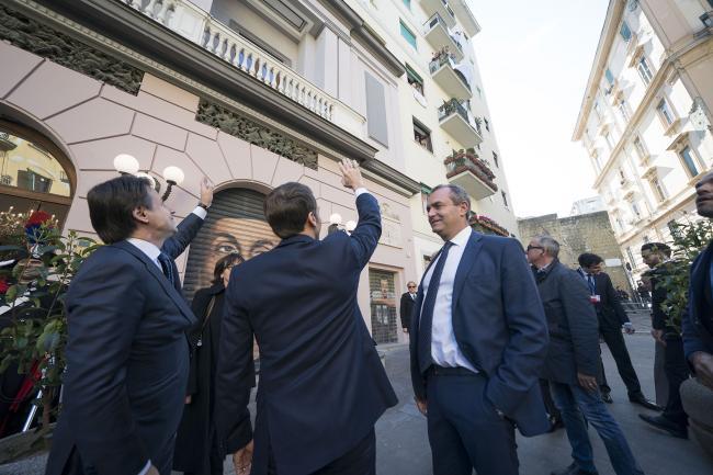 XXXV Vertice intergovernativo italo-francese, visita a Napoli