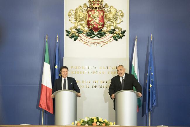 Dichiarazioni alla stampa Conte - Borissov