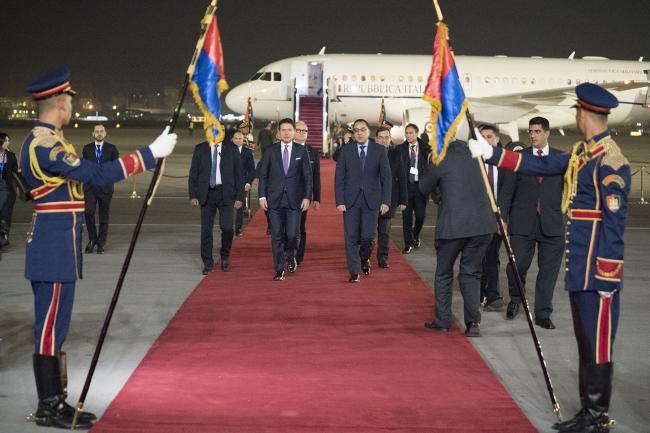 Conte in visita a Il Cairo