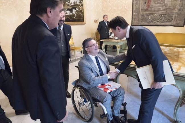 Conte incontra i rappresentanti delle associazioni Fish e Fand