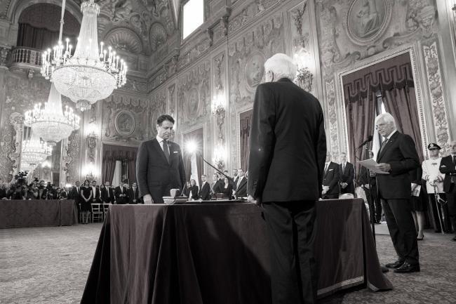 Il Giuramento del Presidente Conte al Quirinale