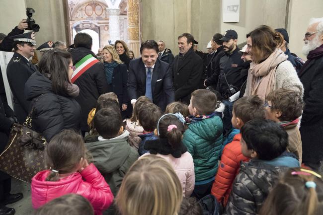 Conte a Palazzo Vecchio per l'inaugurazione dell'anno accademico 2019-2020 dell'Università