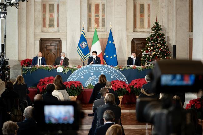 Conferenza stampa di fine anno del Presidente Conte